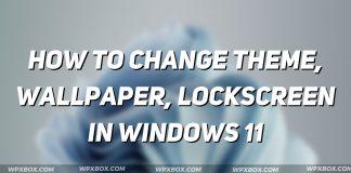 change theme wallpaper lockscreen Windows