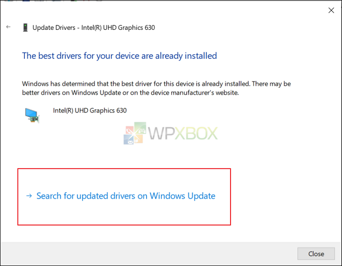 search for updated drivers to adjust brightness