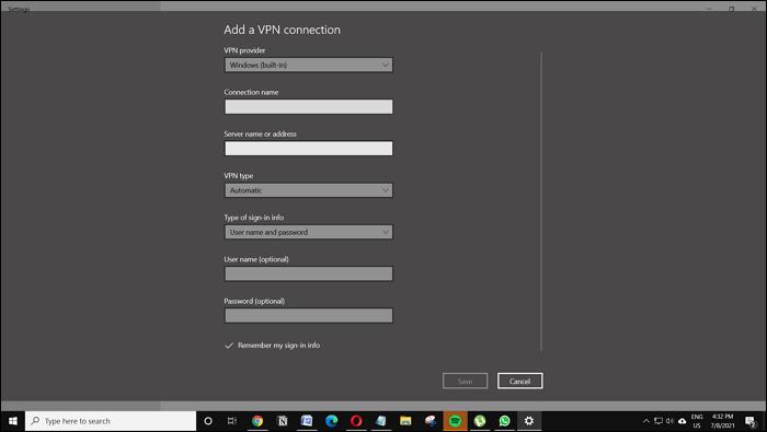 Setup VPN in Windows 11 and Windows 10