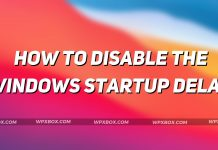 Disable Windows Startup Delay