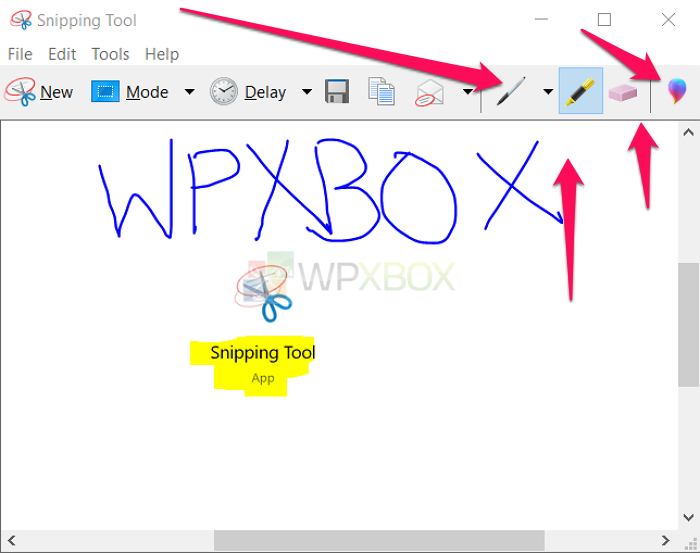 Edit with Snipping Tool