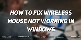 Fix Wireless Mouse Not Working Windows