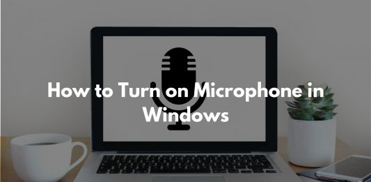 How to Turn on Microphone in Windows