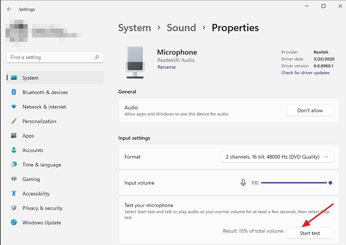 How to Test Microphone in Windows 11/10