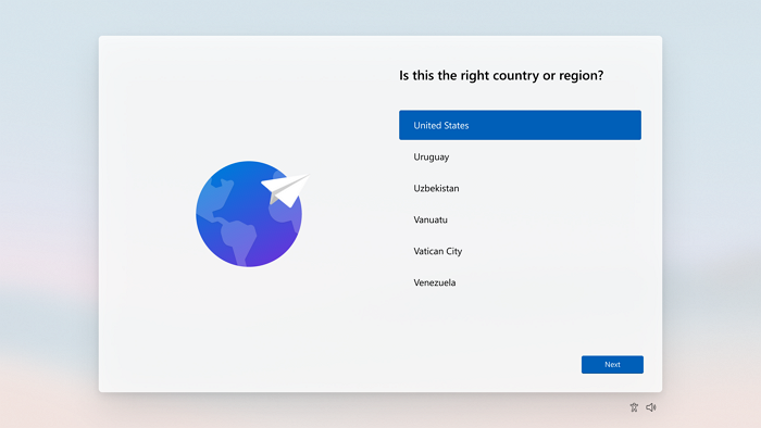 Windows 11 Setup Screen