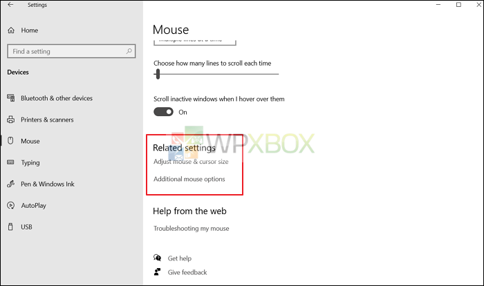 additional mouse options to fix mouse not working
