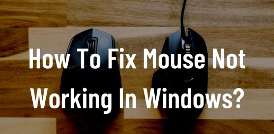 mouse not working Windows