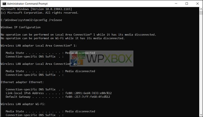 release and renew ip address