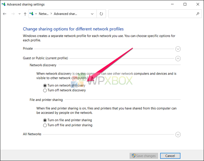 turn on network discovery to map a drive