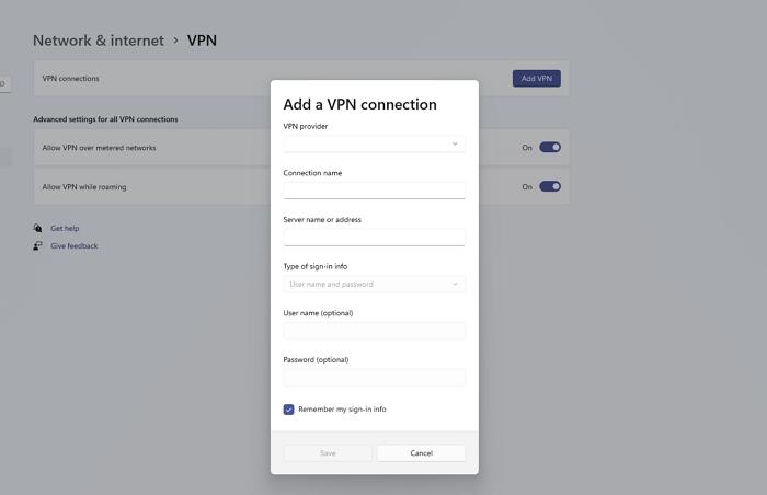Add a VPN PC
