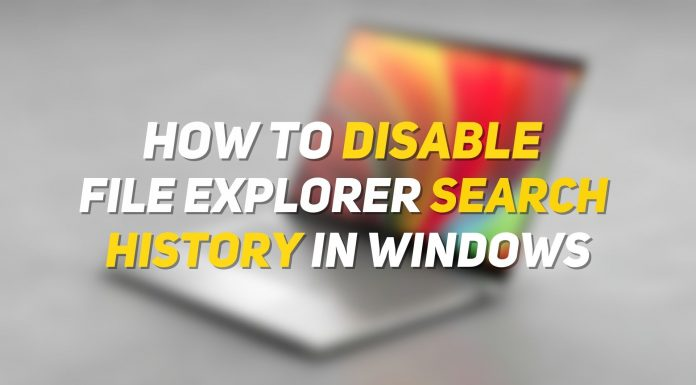 Disable File Explorer Search History on Windows