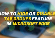 Disable Remove Tab Groups Feature Microsoft Edge