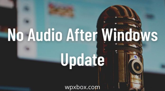 No Audio After Windows Update