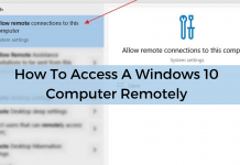 Access Windows 10 Computer Remotely
