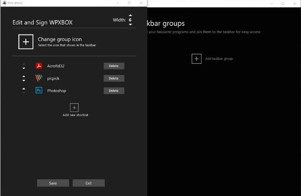 How to group Taskbar shortcuts in Windows 10