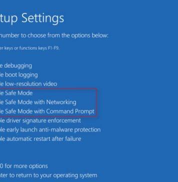 Advanced Settings Windows 10