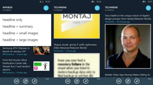 Article Styles in Ngreader WP8