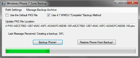 Bacup Windows Phone