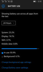 Battery Saver Windows 10 Mobile 1