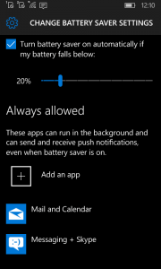 Battery Saver Windows 10 Mobile 3