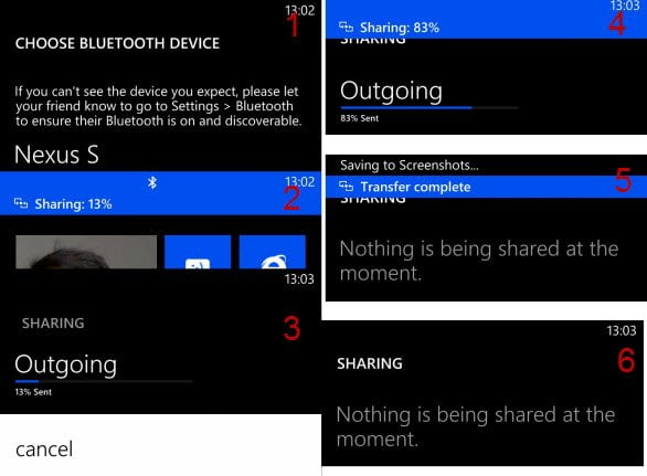 Bluetooth File transfer in Windows Phone 8