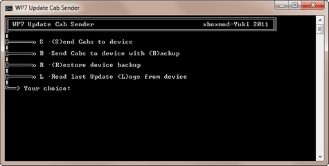 Windows Phone Update Cab sender