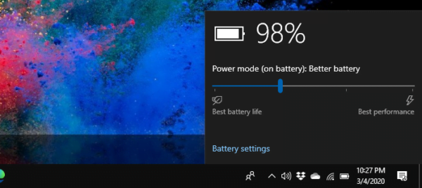 Switch Battery Modes Power Plans