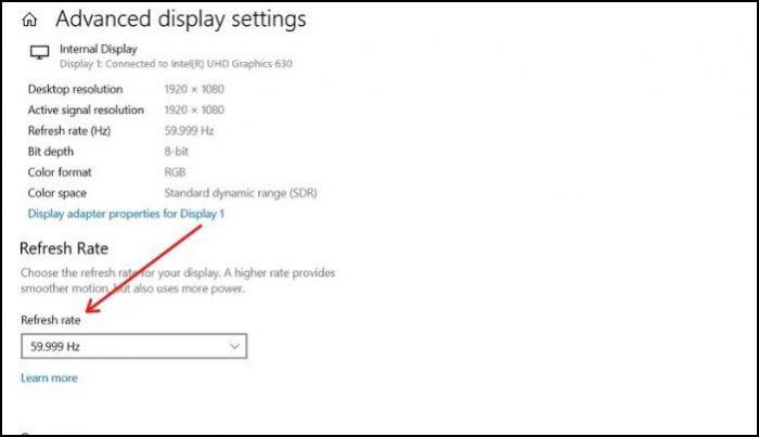 Change Display Refresh Rate Settings