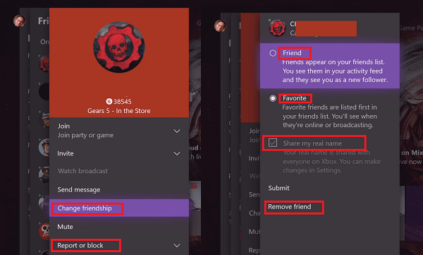 Add friend Xbox gamertag