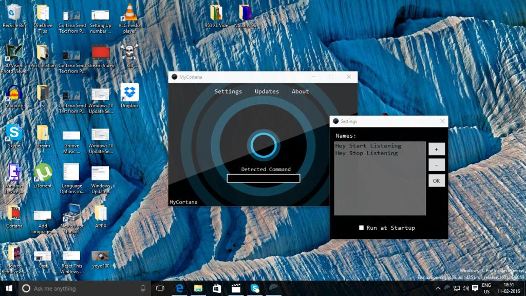 Change Hey Cortana to What You Like Windows 10