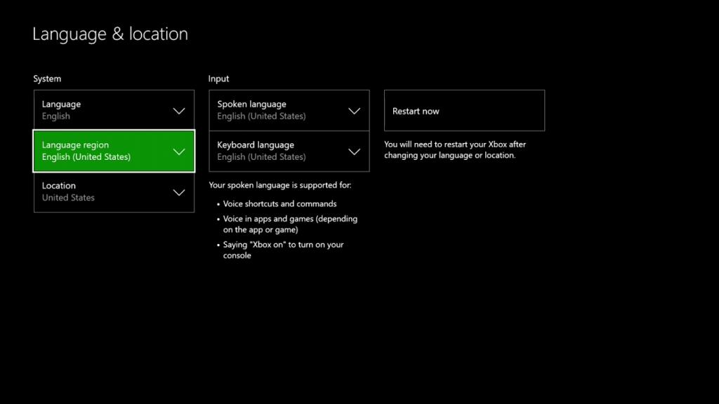 Change Language and Location Windows 10
