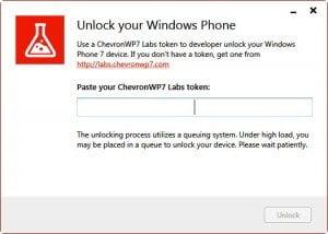 Chevron WP7 Unlock Code