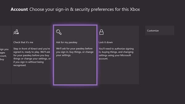 Setup Reset Xbox One Passkey