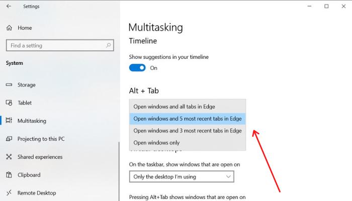Configure ALT+TAB in Edge
