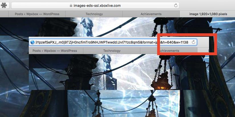 Copy Image URL Xbox One Achivement