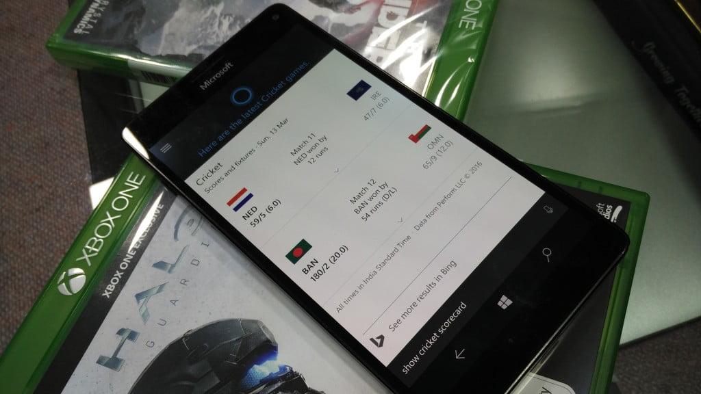 Cortana Cricket Score
