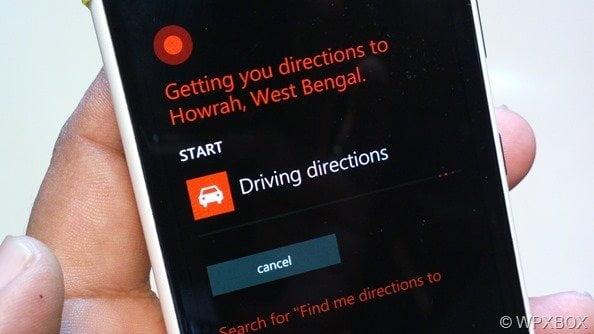 Cortana Dirving Direction