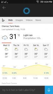 Cortana Weather