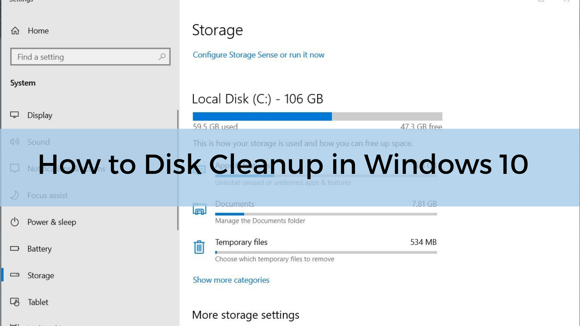 How to Disk Cleanup in Windows 10