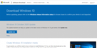 Downloa Windows 10 v 20H2 October 2020 Update via ISO and Update Assistant Tool