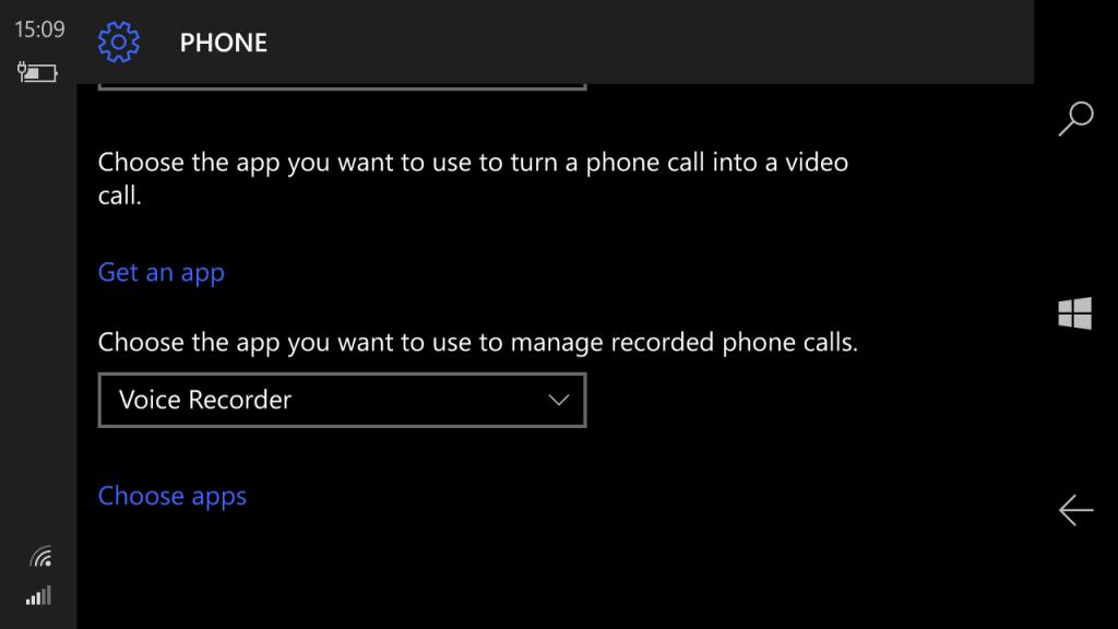 Enable Native Call Recording Windows 10 Mobile 1