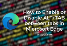 Enable or Disable ALT+TAB between tabs in Microsoft Edge