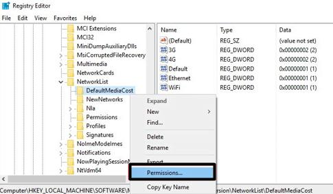 Ethernet registry