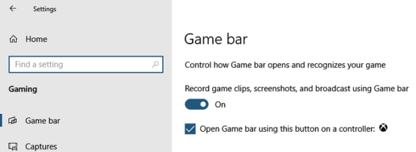 Disable Game Bar Windows