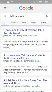 Google Now Joke
