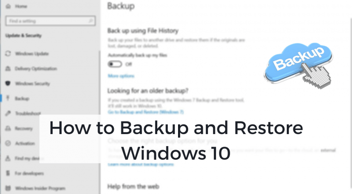 How to Backup Restore Windows 10