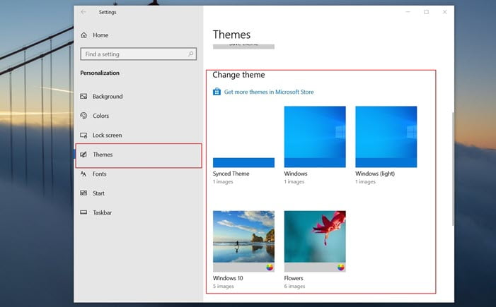 How to Change Desktop Background using Themes