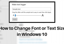 How to Change Font or Text Size in Windows 10