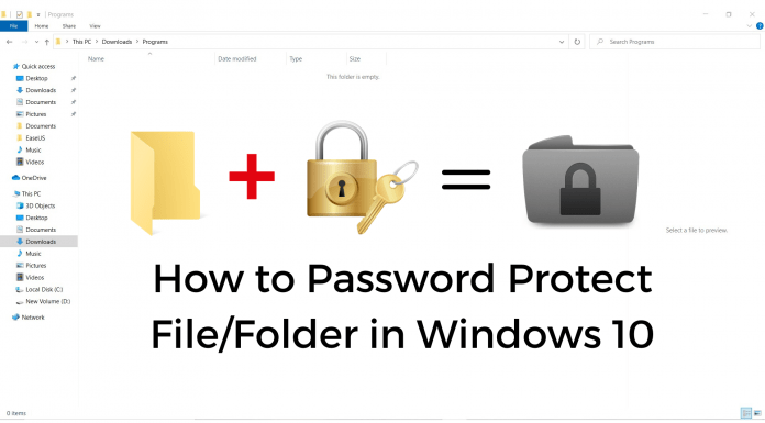How to Password Protect File_Folder in Windows 10