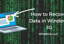 How to Recover Data in Windows 10